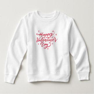 ピンクのハートのハッピーバレンタインデー のスエットシャツ スウェットシャツ