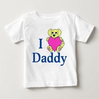ピンクのハートのバレンタインデーの野良犬 ベビーTシャツ