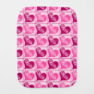ピンクのハートのバレンタインデー バープクロス