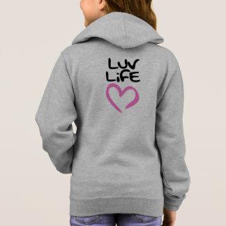 ピンクのハートの生命女の子のセーターをlove パーカ