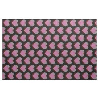 ピンクのハートの生地 ファブリック