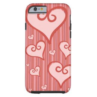 ピンクのハートのiPhone 6Caseの堅いiPhone6ケース ケース