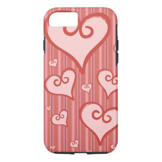 ピンクのハートのiPhone 7Caseの堅いiPhone 7の場合 iPhone 8/7ケース