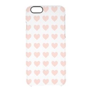 ピンクのハートパターン クリアiPhone 6/6Sケース