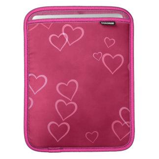 ピンクのハートパターン iPadスリーブ