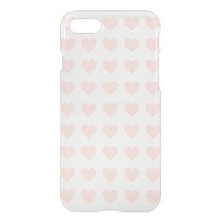 ピンクのハートパターン iPhone 8/7 ケース