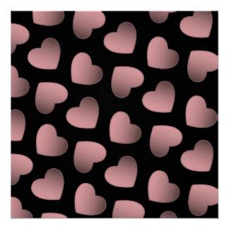 ピンクのハート愛芸術ポスター ポスター