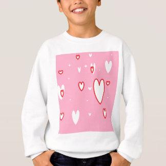 ピンクのハート スウェットシャツ