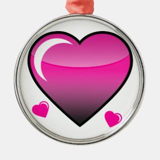 ピンクのハート メタルオーナメント