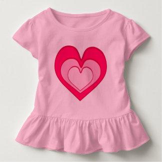 ピンクのハート、愛、ガーリーなTシャツ トドラーTシャツ