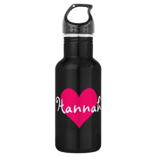 ピンクのハートI愛ハナ ウォーターボトル