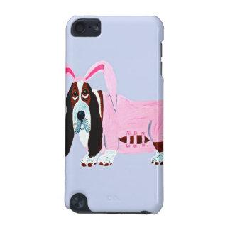 ピンクのバニーのスーツのバセットハウンド iPod TOUCH 5G ケース