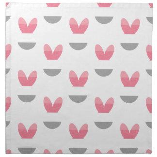 ピンクのバニーは縞で飾ります ナプキンクロス