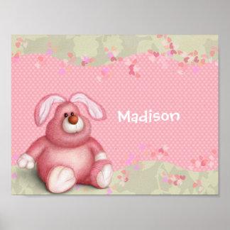 ピンクのバニー ポスター
