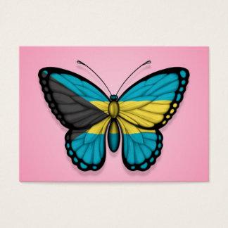 ピンクのバハマの蝶旗 名刺