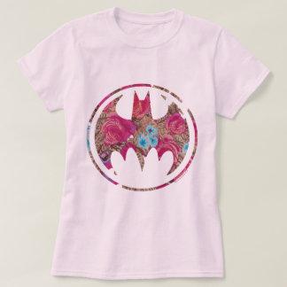 ピンクのバラのこうもり信号 Tシャツ