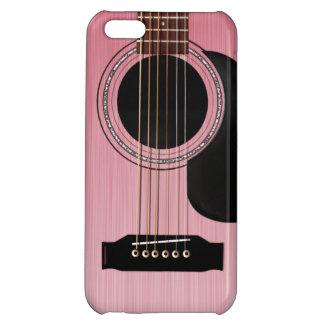 ピンクのバラのアコースティックギター iPhone 5C CASE