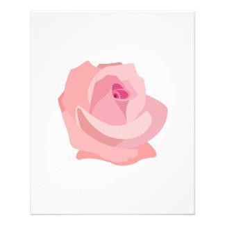ピンクのバラのイラストレーション チラシ