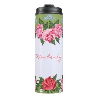 ピンクのバラのカスタムな熱タンブラー タンブラー