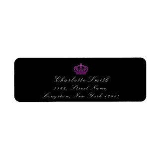 ピンクのバラのグリッターRSVPの皇太子妃のブライダルの黒 ラベル