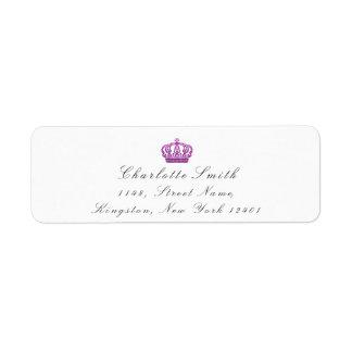 ピンクのバラのグリッターRSVPの皇太子妃の花嫁の白 ラベル