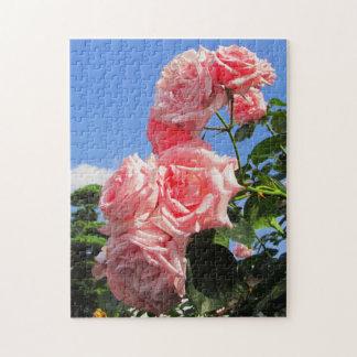 ピンクのバラのジグソーパズル箱 ジグソーパズル