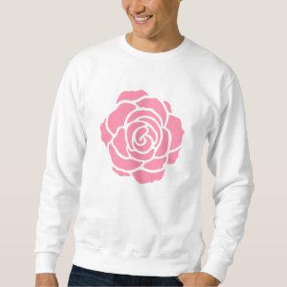 ピンクのバラのスエットシャツ スウェットシャツ