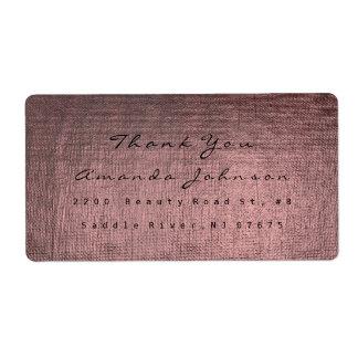 ピンクのバラのバーガンディの金化粧の灰色は感謝していしています 発送ラベル