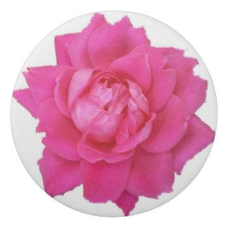 ピンクのバラの円形の消す物 消しゴム