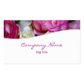 ピンクのバラの名刺 スタンダード名刺