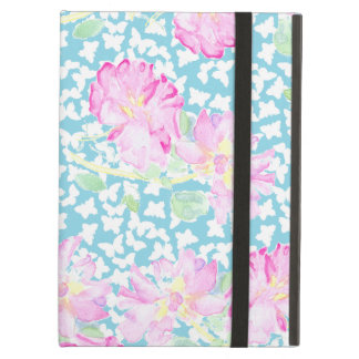 ピンクのバラの白い蝶PowisのiCaseのiPadの箱 iPad Airケース