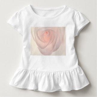 ピンクのバラの目の前部/クリームばら色の目の背部 トドラーTシャツ