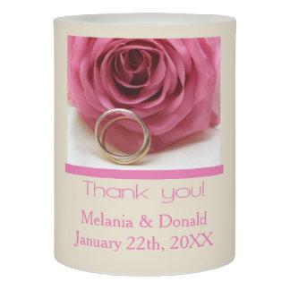 ピンクのバラの結婚式の引き出物 LEDキャンドル