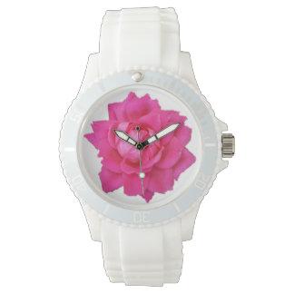 ピンクのバラの腕時計 腕時計