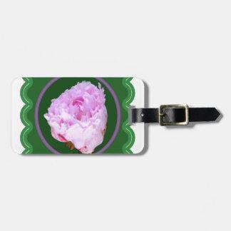 ピンクのバラの花の100個のギフトの花の写真のグラフィック ラゲッジタグ