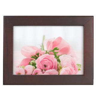 ピンクのバラの花束 ジュエリーボックス