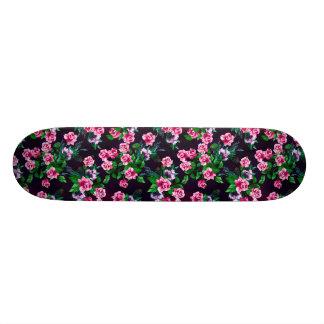 ピンクのバラの花柄のスケートボード スケボーデッキ