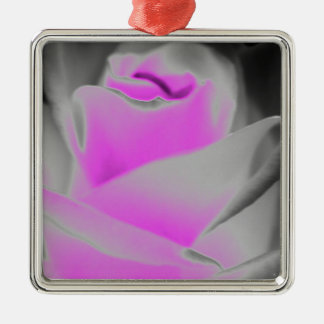 ピンクのバラの芸術 メタルオーナメント
