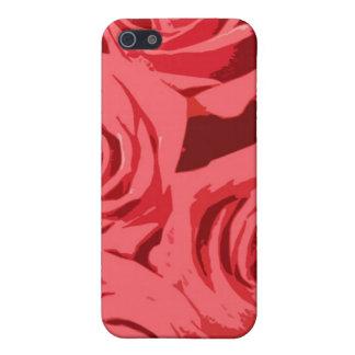 ピンクのバラの質 iPhone SE/5/5sケース
