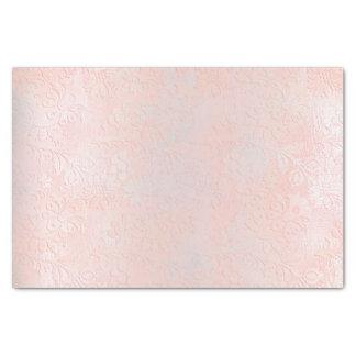 ピンクのバラの金ゴールドの赤面の金属モモの銀の花柄 薄葉紙