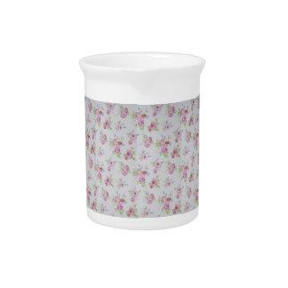 ピンクのバラのChintzのクリーム ピッチャー