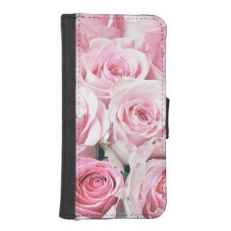 ピンクのバラのiPhone 5の5Sウォレットケース iPhoneSE/5/5sウォレットケース