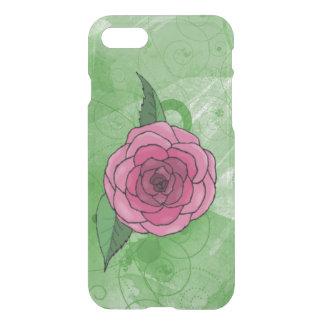 ピンクのバラのiPhone 7のClearly™のディフレクターの箱 iPhone 8/7 ケース