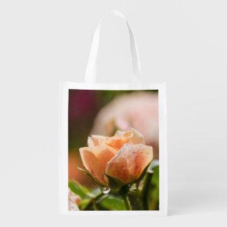 ピンクのバラのreuseableバッグ エコバッグ