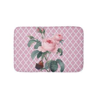 ピンクのバラオリエンタル バスマット