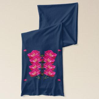 ピンクのバラパターン スカーフ
