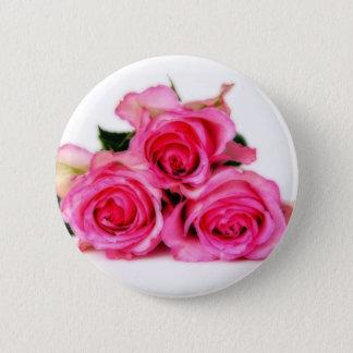 ピンクのバラボタン 缶バッジ