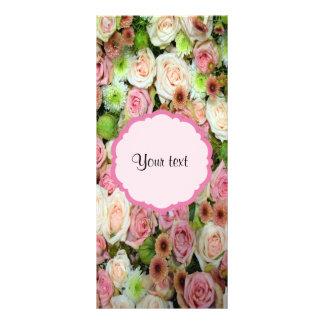 ピンクのバラ及び菊 ラックカード