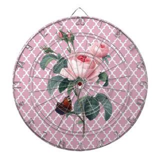 ピンクのバラ東洋 ダーツボード