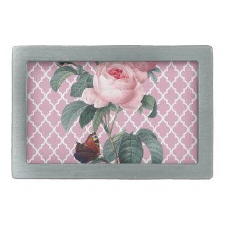 ピンクのバラ東洋 長方形ベルトバックル